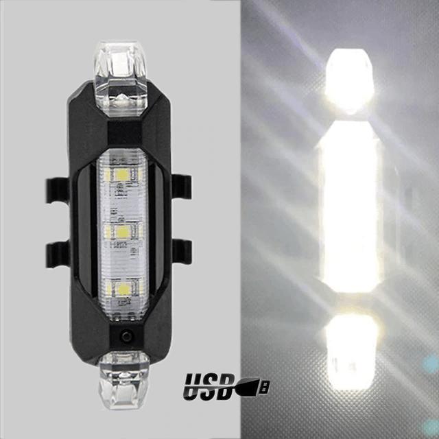 Oplaadbaar LED Fietslampje Wit